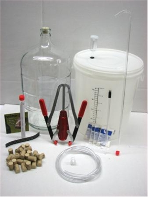 Basic / Starter Wine Making Equipment Kit - PLASTIC