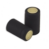 Black Shrink Capsules (Matte) w/ Gold Top - 500 Pack