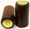 Burgundy (Matte) w/ Gold Foil Top Shrink Capsules - 100 Pack