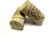 Wine Corks - Logo, Natural Grade 3, #9 x 1.75 - 100 Pack