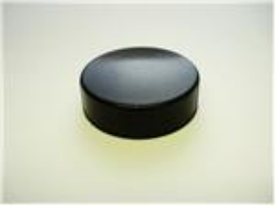 Screw Caps, Black Plastic, Polyseal 38mm - 12 Pack
