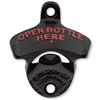 Bottle Opener - Wall Mount (Black, Open Here)