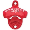 Bottle Opener - Wall Mount (Red, Open Here)