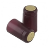 Burgundy Shrink Capsules (Matte) w/ Gold Top - 500 Pack