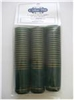 Green Shrink Capsules w/ Gold Stripes and Top - 30 Pack