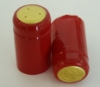 Holiday Red Shrink Capsules w/ Gold Top - 100 Pack