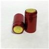 Holiday Red Shrink Capsules w/ Gold Top - 30 Pack
