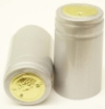 Silver Shrink Capsules w/ Gold Top - 100 Pack