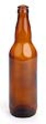 Amber Beer Bottles - 22 oz. (Case of 12)