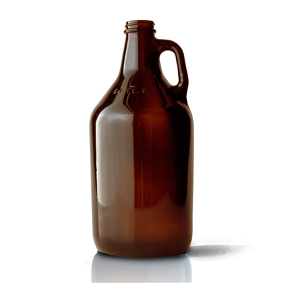 Glass Jug, Amber - 1/2 Gal.