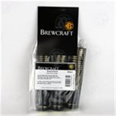 Black Shrink Capsules w/ Gold Stripes & Gold Top - 30 Pack
