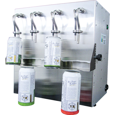 Carbonated Beverage Open Can Filler (2 or 4 Spout)