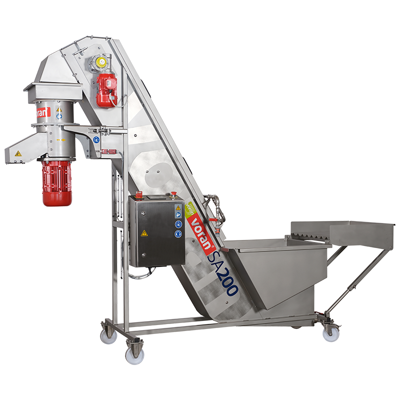 SA200 Washing Elevator with Fruit Mill (1.25 Ton)
